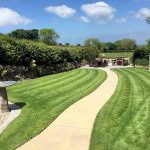 Dedicated BBQ and dining area overlooking meadows at Meadowview Cottage a luxury cottage Cornwall