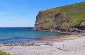 Crackington Haven beach 10 mins from Meadowview Cottage