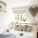 Double Bedroom with ensuite shower room overlooks garden in our luxury cottage Cornwall