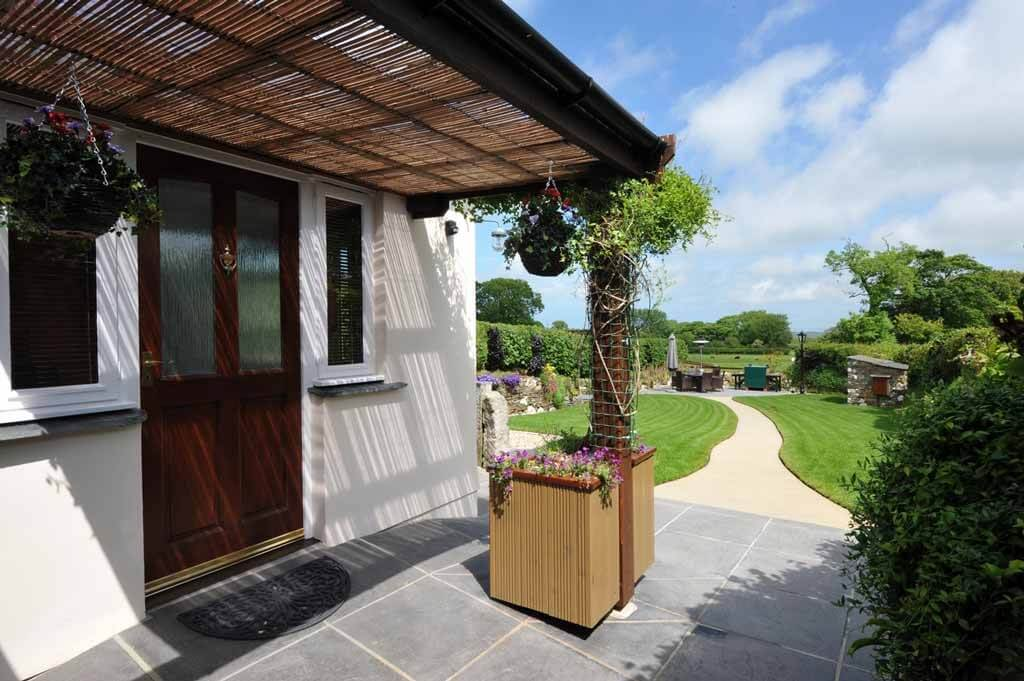 Your welcoming view at Meadowview Cottage is over verdant garden and meadows at this luxury cottage North Cornwall