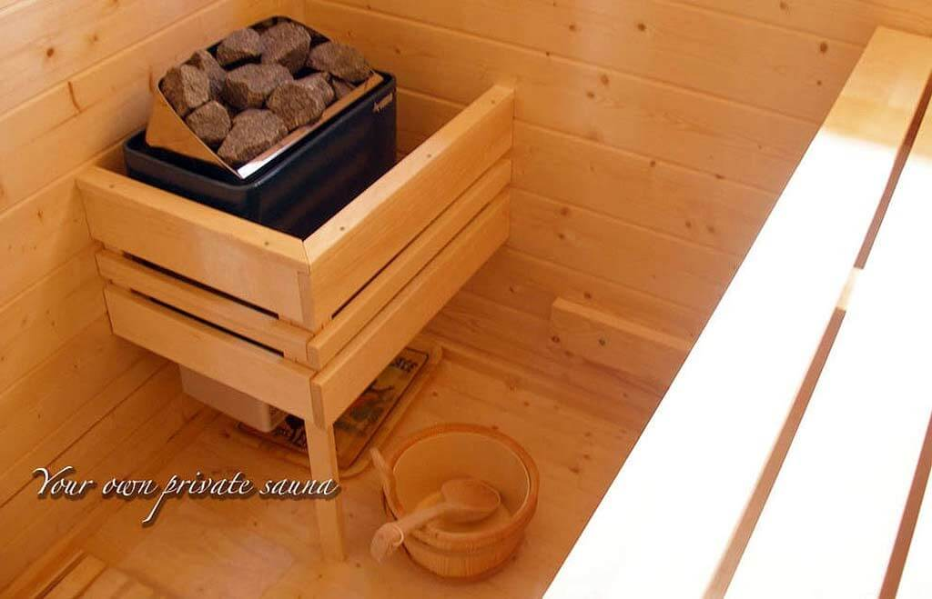 Chill out in your own luxurious private world! Exclusive Sauna at our luxury cottage Cornwall