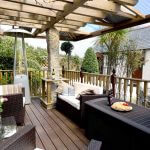 A heated decking area for relaxing and sundowners! at our luxury cottage Cornwall