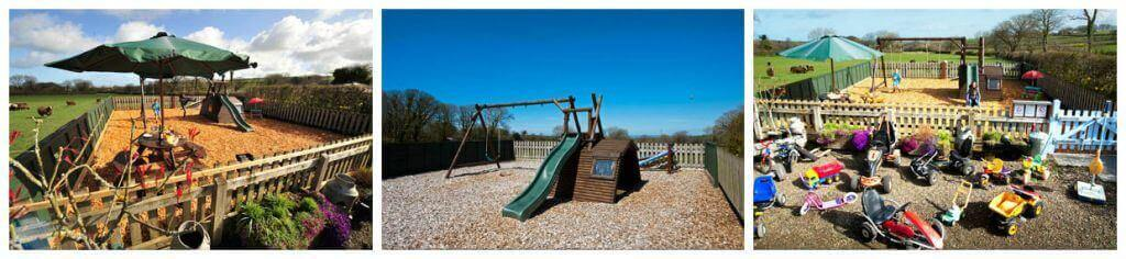Exclusive Play park at self catering accommodation Cornwall