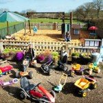 Fabulous Play Park and a huge range of ride-on toys for your children's own personal use at our luxury cottage Cornwall