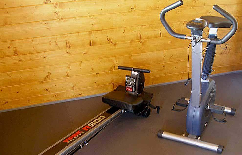 Gym equipment for your exclusive use at Meadowview Cottage a luxury cottage Cornwall
