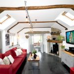 Living Room with Sky TV, Unlimited Wi-Fi, Blu-Ray DVD, ipod dock and PS3 at our luxury cottage Cornwall