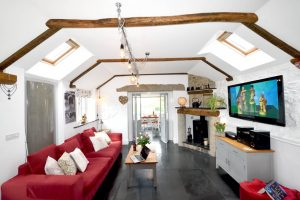Living Room SKY TV, Free Wi-Fi, DVD, PS3 at Meadowview Cottage a luxury cottage Cornwall