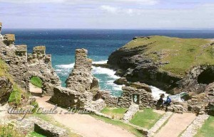 Tintagel Castle 20 mins from Meadowview Cottage