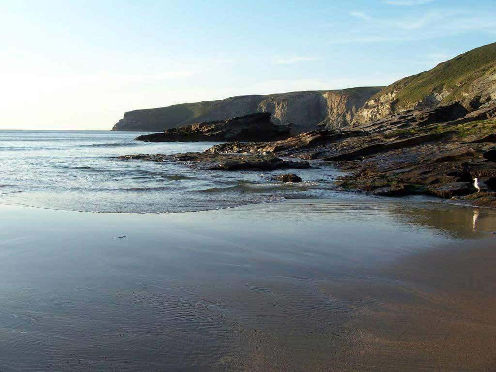 Trebarwith Strand one of our many local beaches near our Luxury Self-Catering Cornwall