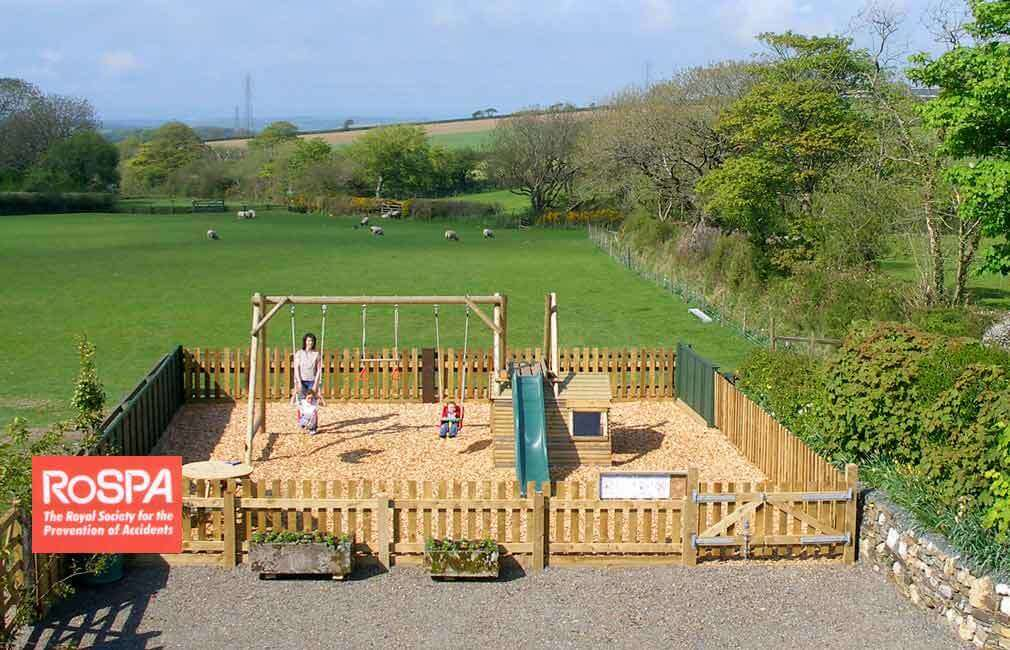 A RoSpA inspected play park for your children's exclusive use at Meadowview cottage Cornwall