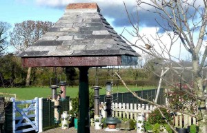 Bird Table at Meadowview Cottage luxury holiday accommodation in Cornwall