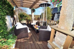Decking Area luxury cottage Cornwall Cornwall Self Catering Luxury