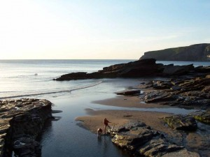 luxury Cornwall self catering for an Early evening swimTrebarwith Strand 20 mins from our luxury cottage Cornwall