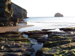 luxury Cornwall self catering where you can enjoy evening strolls at Trebarwith Strand on the North Cornwall coast near our luxury cottage Cornwall
